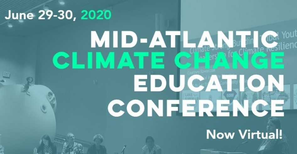 Poster for the Mid-Atlantic Climate Change Education Conference