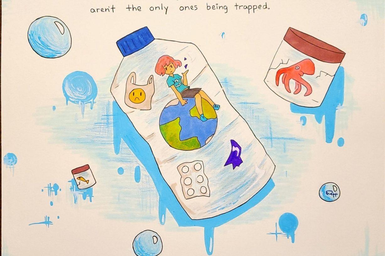 Artwork from winner of the annual NOAA Marine Debris Program Art Contest